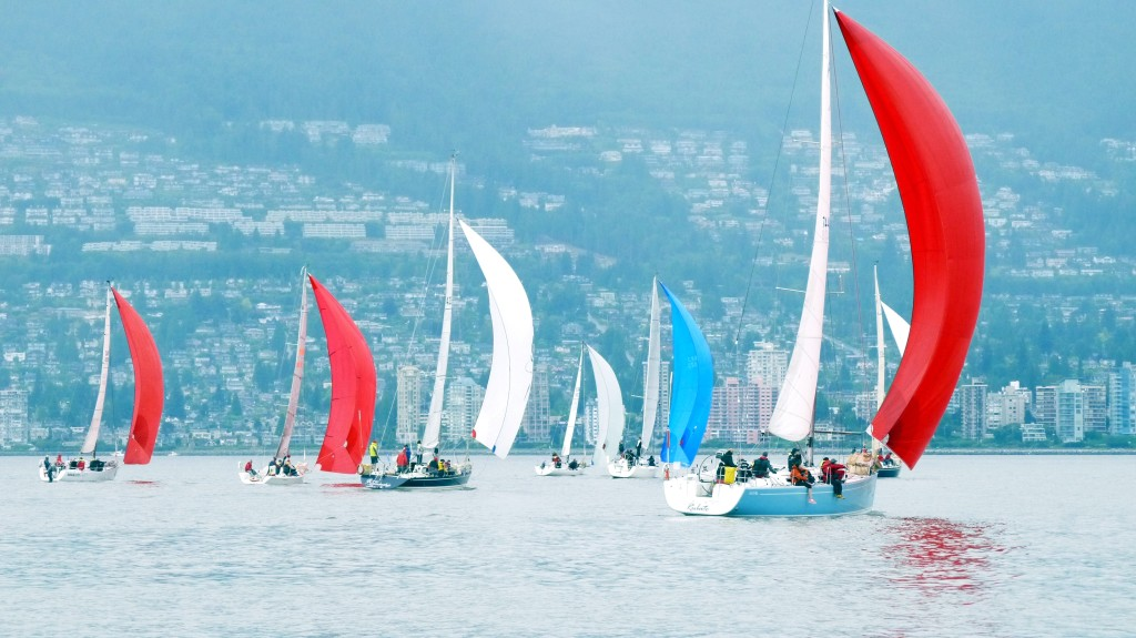 Division 2 downwind start on Saturday