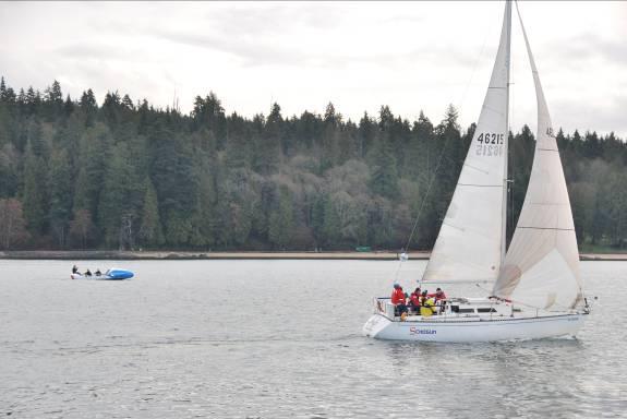 Schogun under sail