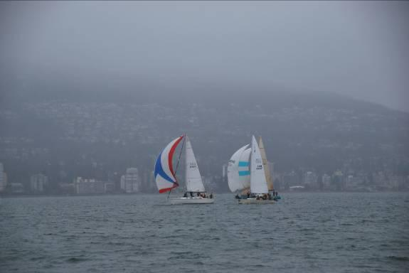 Nimue leads this pack and sailed very well.